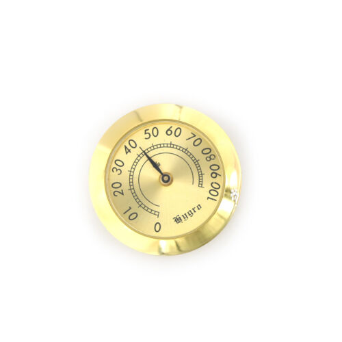 37mm Thermometer Cigar Hygrometer Monitor Meter Gauge Humidity Measuring Tools X
