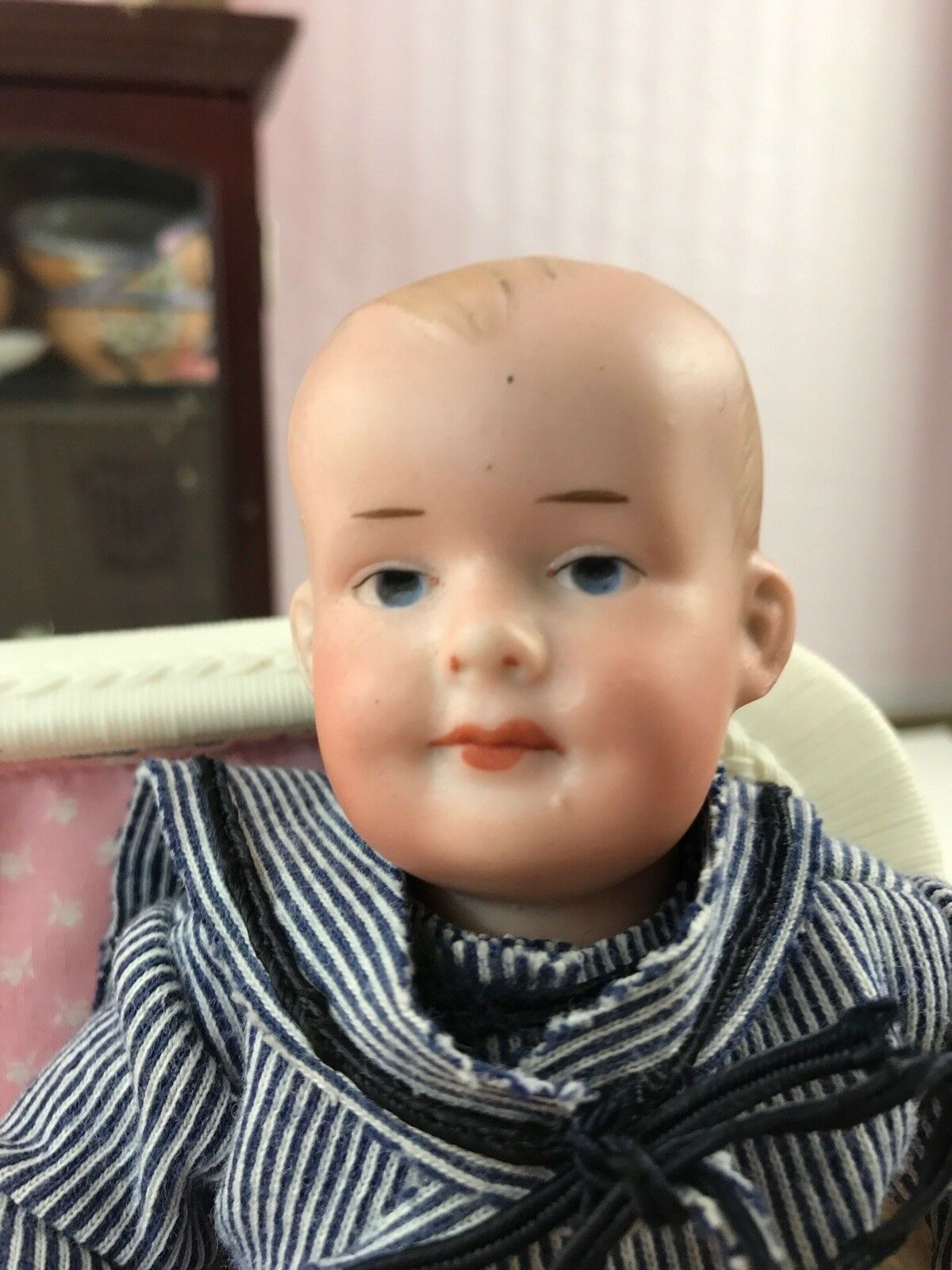 7  Antiguo Alemán cabeza de Biscuit un molde de bebé de caracteres M am 500 Sailor Suit