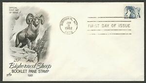 #1949 20c Bighorn Oveja, Art Craft FDC Cualquier 5=