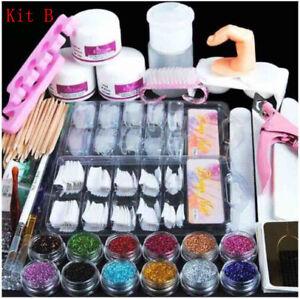 Acrylic-Nail-Kit-Acrylic-Powder-Glitter-Art-Manicure-Tool-Tips-Brush-Set-Decor