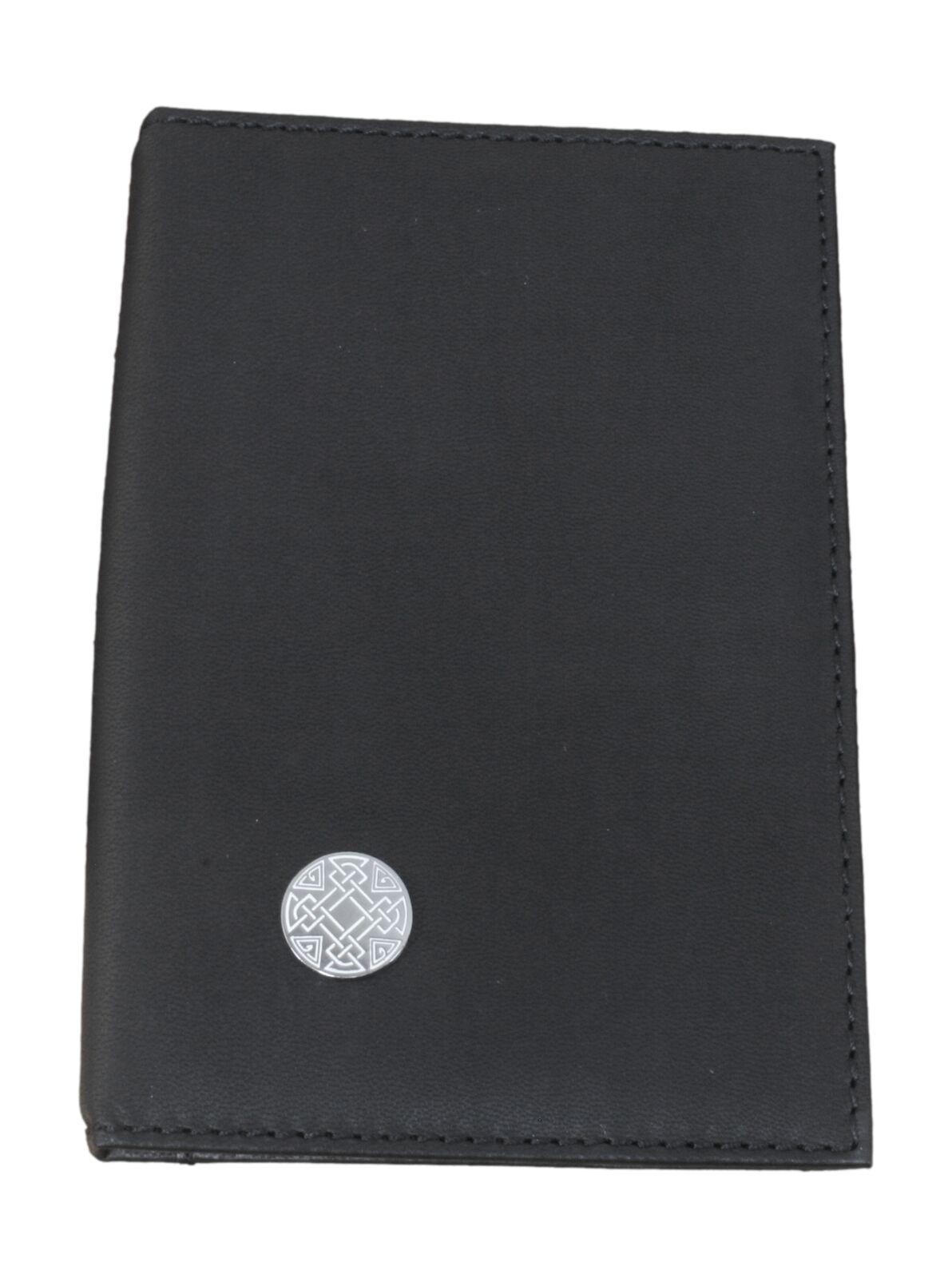 Celtic Knot Black Leather Shotgun/Firearms Certificate Holder 68