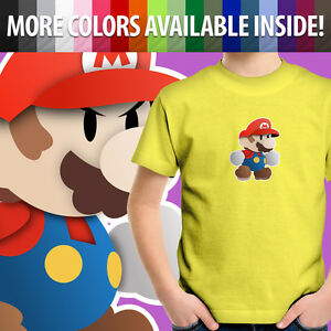 Toddler Kids Tee Youth T-Shirt Gift Super Paper Mario Cute Game 2T~XL