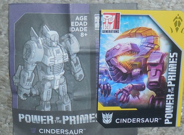 Transformers Power Of The Primes CINDERSAUR BIO and MANUAL