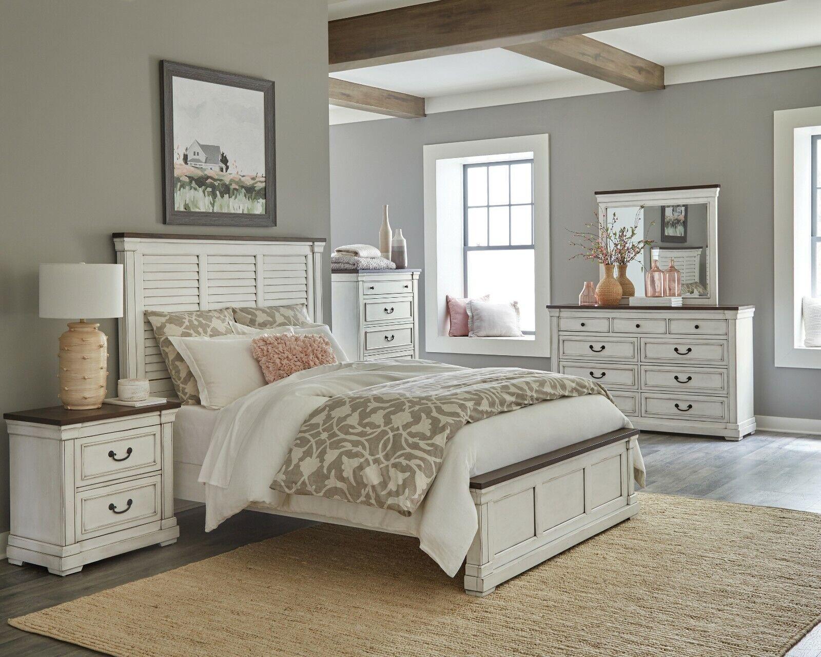 Roundhill Furniture White Bedroom Furniture Set Includes Bed Dresser Mirror 2 For Sale Online Ebay