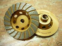 "4"" inch 5/8"" arbor THK DIAMOND TURBO sintered segment Grinding Cup Wheel disc"