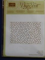 Stampin Up Retired decorative Dots Embossing Folder - In Package
