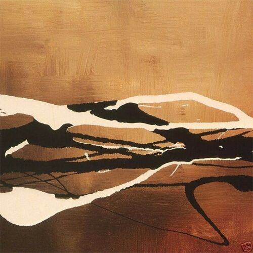 and II 24x24 SET by LAURIE MAITLAND 2PC CANVAS 24x24 COPPER CONCERTO I