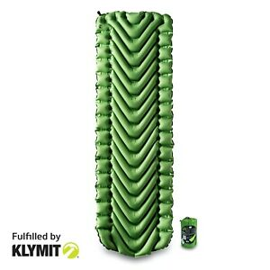 KLYMIT-Static-V-Sleeping-Pad-GREEN-Lightweight-Camping-CERTIFIED-REFURBISHED