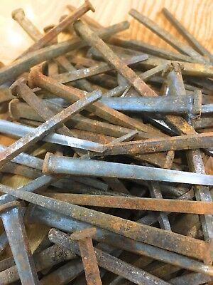 """1lb Square Head Cut Nails 2.25/"""" Antique Vintage"""