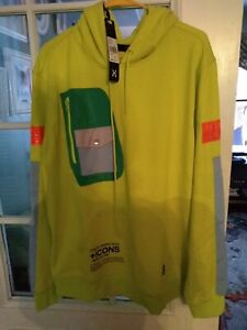 hudson-outerwear-hoodie-xl-yellow-zippered-sides-zippered-breast-pocket-pouch