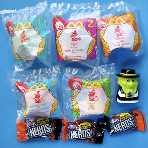 McDonald-039-s-Haunted-Halloween-All-6-5-MIP-Happy-Meal-Toys-1-Not-Candy-Nerds-C