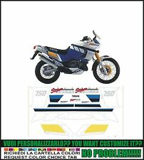 kit adesivi stickers compatibili xtz 750 super tenere 1989 white blue