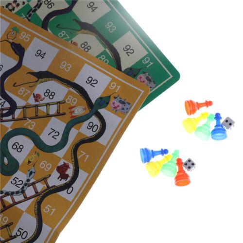 Kids Folding Snake Chess Toys Portable Snakes Ladders Puzzle Game PreschooBE