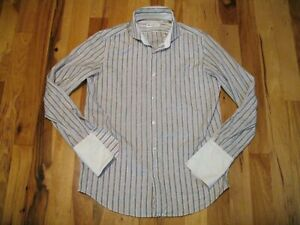 Robert-Graham-Cotton-Long-Sleeve-Button-Up-French-Cuff-Shirt-Mens-16-5-42-EUC