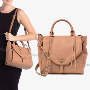 NWT-Lucky-Brand-Numa-Satchel-Crossbody-Shoulder-Leather-Bag-Bijou-Beige-Brown