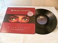 "VINTAGE  MICHAEL JACKSON IN THE CLOSET # 2 ORIG.1991 12"" VINYL RECORD LP WDKX"