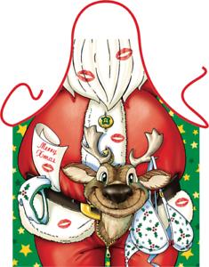 Weihnachtsmann Christmas Elch Grillschürze Kochschürze