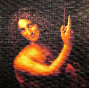 Sew On Leonardo Da Vinci Printed Patch 1452-1519 SAINT JOHN THE BAPTIST