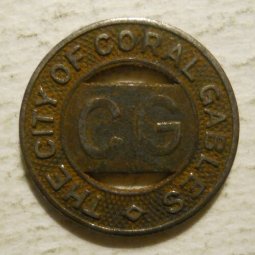 transit token FL130C Florida City of Coral Gables