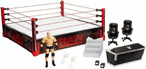 WWE-Elite-Authentic-Scale-WrestleMania-Raw-Main-Event-Ring-Playset-Brand-new