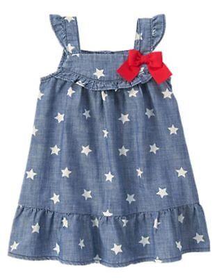 NWT Gymboree July 4th Navy Blue Star Dress Toddler girls 18-24M,2T,3T,4T,5T