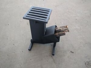 Rocket-Hunting-Camping-Wood-Stove-with-automatic-feeder