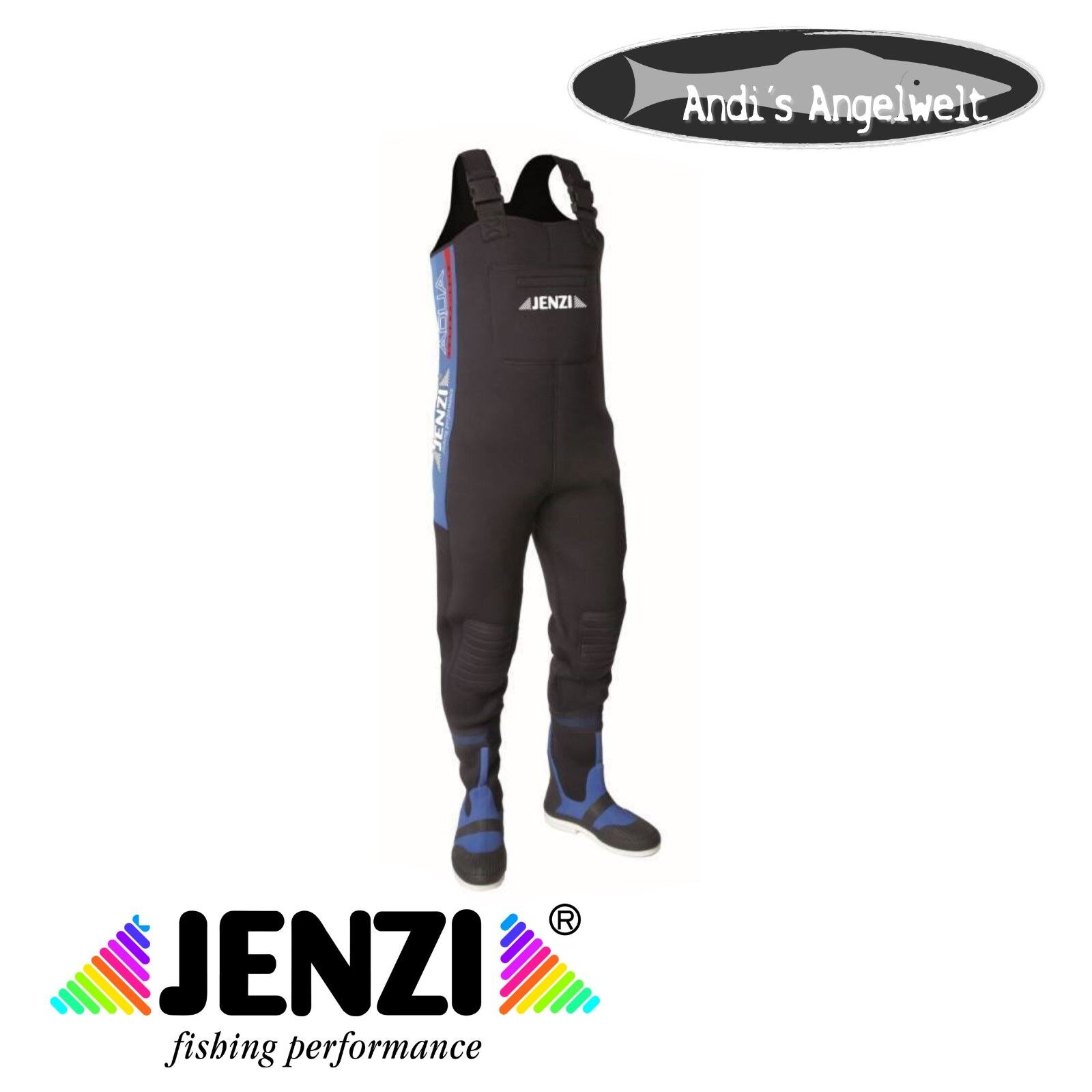 Jenzi Neopren-Wathose -  5mm Neopren - Ideal zum Fischen in jeder Jahreszeit    perfect