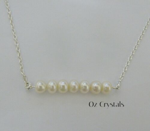 Freshwater Pearl Bar Anklet with Solid 925 Sterling Silver