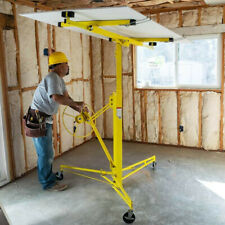 11 Drywall Lift Rolling Panel Hoist Jack Lifter Caster Wheels Lockable Tool
