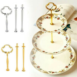 Image is loading 3-Tier-Cake-Cupcake-Plate-Stand-Handle-Fitting-  sc 1 st  eBay & 3 Tier Cake Cupcake Plate Stand Handle Fitting Hardware Rod Wedding ...