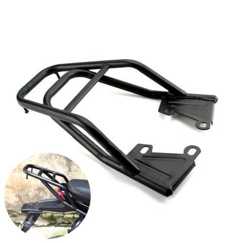 Black Metal Motorcycle Tail Rack Rear Body Frame Luggage Box Bag Bracket Holder