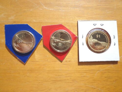 2011 P D S Sacagawea Dollar Proof Native American 3 Coin Set Sealed Mint Cello