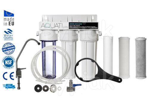 Accesorios Hogar 3 St Bajo fregadero Filtro de agua potable Cerámica SYTSEM Grifo Kit