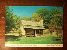 Vintage post Card Humpback rocks blue ridge parkway North Carolina cabin