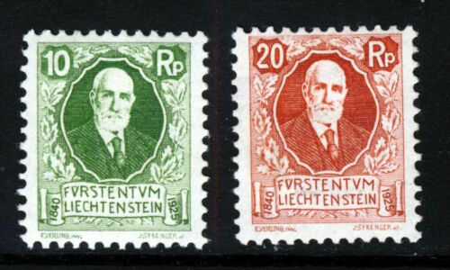 LIECHTENSTEIN 1925 Prince John II 85th. Birthday Issue SG 74 & SG 75 MINT