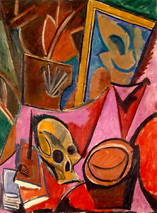 Pablo-Picasso-Composition-with-Skul-canvas-print-giclee-8X12-amp-12X17-art-poster