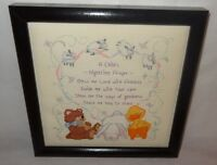 Baby Prayer Christian Nursery Bless Me Lord Finished Cross Stitch U.s.a.