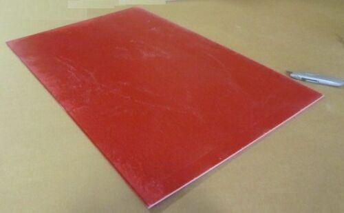 """GPO3 Electrical Red Fiberglass Sheet 3//16/"""" Thick x 24.0/"""" Wide x 36.0/"""" Long"""
