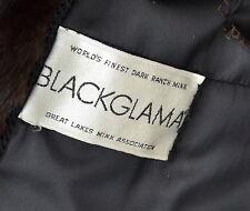 US348 beauty Blackglama Mink Fur Coat jacket abrigo de vison Nerzmantel ca. L