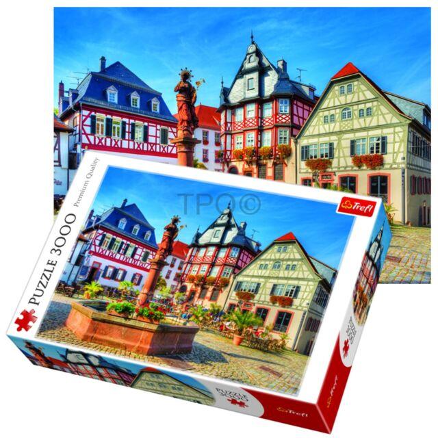 Puzzles Trefl 33052 Puzzle 3000 Teile Marktplatz Heppenheim Bergstrasse Hessen