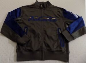 Indiana-Pacers-Track-Jacket-Large-Tall-Charcoal-Grey-Cool-Logos-NBA