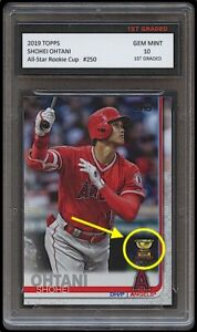 SHOHEI OHTANI TOPPS ALL-STAR ROOKIE CUP 1ST GRADED 10 CARD LOS ANGELES ANGELS