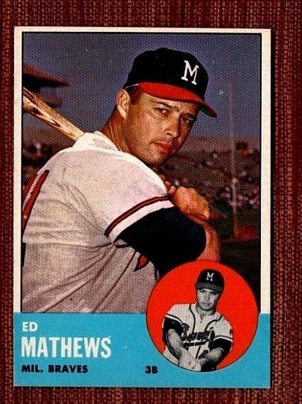 1963 Topps Eddie Mathews Milwaukee Braves 275 Baseball Card