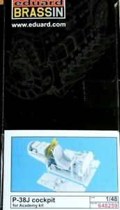 Eduard-Brassin-1-48-P-38J-Lightning-Cockpit-Upgrade-for-ACADEMY-kits-Model-Kit
