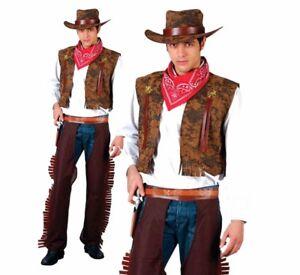 Cowboy adulte homme costume robe fantaisie
