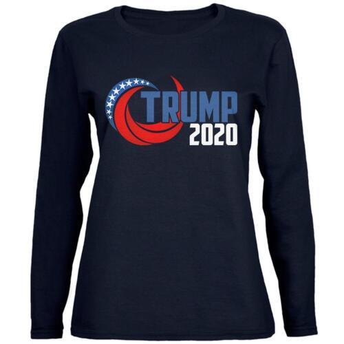 Election Re-Elect Donald Trump 2020 Swoosh Womens Long Sleeve T Shirt