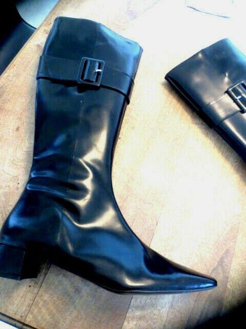 Leather Stiefel Polished New Value 189E Größe 40