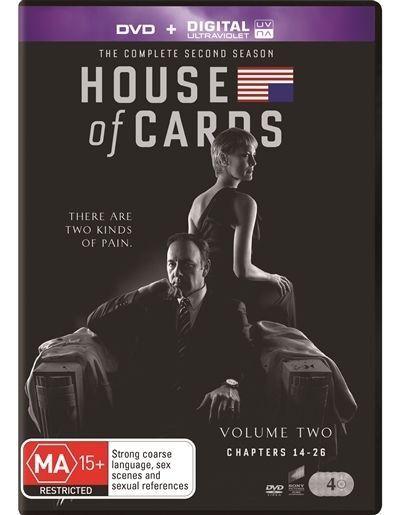 House Of Cards : Season 2 (DVD, 2014, 4-Disc Set)*R4*Terrific Condition