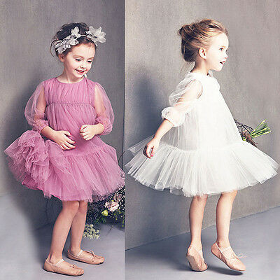 Formal Lace Baby Princess Bridesmaid Flower Girl Dresses Wedding Party Dress US