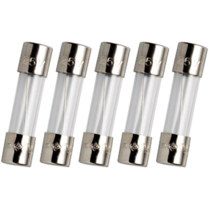 5-Pack Axial Ceramic Fuses 5x20mm Slow Blow 5A 250V
